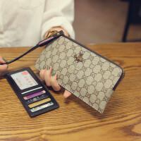 长款钱包女多功能真皮手拿包时尚百搭拉链手机钱夹头层牛皮卡包潮