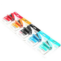 学生桌面装订工具 晨光文具ABS91693 订书器 12号钉 颜色随机