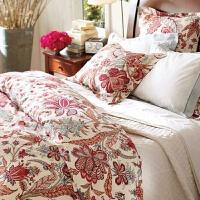 结婚床上用品四件套 高端新婚红色贡缎印花 婚庆四件套大红