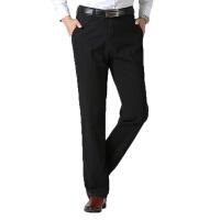 休闲裤 男士中腰宽松型加绒加厚长裤冬季新款男式时尚休闲舒适百搭中老年裤子