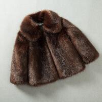 货比迪士尼巴拉巴拉等儿童皮草外套冬装 毛男童棉袄保暖加厚棉衣宝宝女童毛毛衣反季