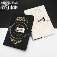复古密码本创意日记本带锁笔记本日韩国加厚礼盒套装学生文具本子