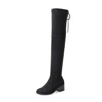 过膝靴女2018新款秋冬长筒靴过膝盖显瘦弹力高筒靴子粗跟长靴