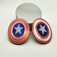 ?指尖陀螺玩具女孩男孩美国队长盾牌手指上指间陀螺玩具? 1_美国队长 -大盖子