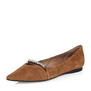 Belle/百丽2018春新品专柜同款羊绒皮女浅口尖头单鞋S2X1DAQ8