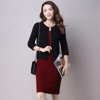 羊毛衫女装圆领羊毛开衫韩版短款加厚麻花针织毛衣外套女