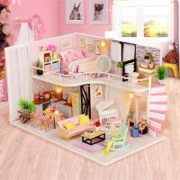 diy小屋拼装玩具 小房子别墅拼装积木 儿童手工制作创意玩具