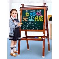 写字板磁性涂鸦画画双面彩色套装 七巧板画板小黑板支架式家用儿童