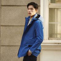 【2件2.5到手价:157.5】MECITY男装科技感商务中长款休闲风衣夹克外套