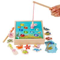 儿童1-2-3一岁女宝宝钓鱼玩具男孩磁性套装蒙特梭利益智蒙氏早教