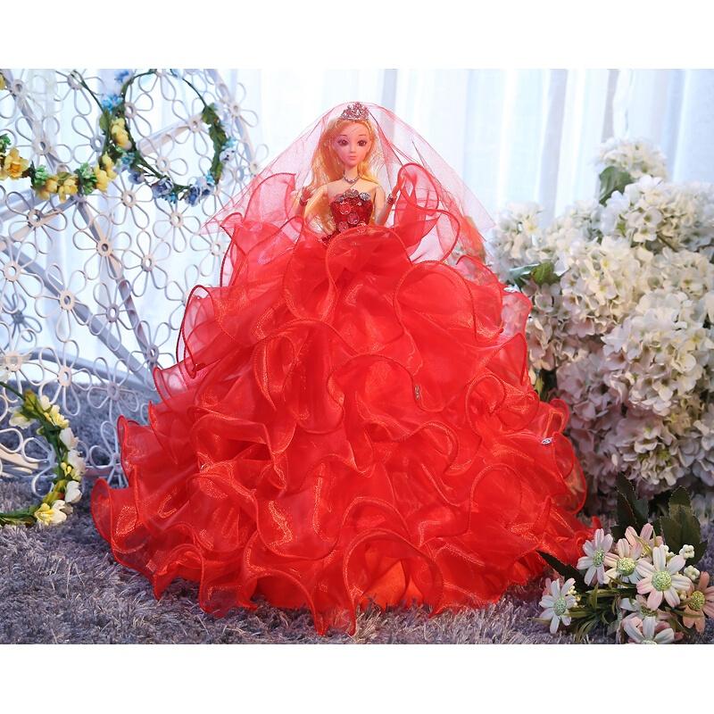 婚纱芭比洋娃娃3D真眼儿童女孩生日礼物玩具新娘白雪公主时尚摆件 发货周期:一般在付款后2-90天左右发货,具体发货时间请以与客服协商的时间为准