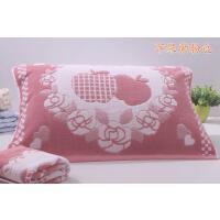 一对装棉质纱布枕巾加厚加大男女情侣结婚欧式枕头毛巾帕