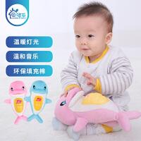 【下单立减50】声光安抚小海豚宝宝助眠玩具0-1岁新生婴儿毛绒公仔音乐玩具0-3-6-12个月