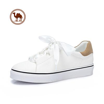 骆驼牌女鞋 春季新品时尚丝带小白鞋韩版简约舒适百搭甜美单鞋女
