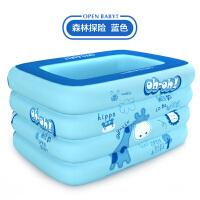 婴儿游泳桶家用0-12个月新生儿宝宝游泳池充气1-3岁儿童泳池 抖音