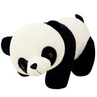 熊�公仔毛�q玩具玩偶黑白�*抱抱熊布娃娃抱枕送女生�Y物萌 黑色熊� 100cm送