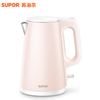 苏泊尔(SUPOR) SW-15S01A电热水壶 商超同款1.5L容量 双层防烫304不锈钢家用电烧水壶 煮水壶