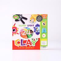 图个乐TUGELE儿童益智趣味黏土彩泥橡皮泥24色玩具套装教具