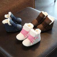 0-婴儿五5六6七7八8九9-12个月女冬天宝宝棉鞋0-1岁男234冬装短靴