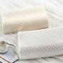 伊迪梦家纺 天然平面乳胶枕 柔软天鹅绒枕套 乳香味天然乳胶内芯 大中小号护颈枕头芯LA201