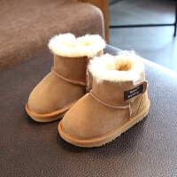 2017冬季新款童鞋澳洲进口羊皮毛一体雪地靴儿童保暖靴子