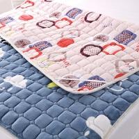 法兰绒床褥学生上下铺榻榻米垫被可折叠水洗床垫0.9/1.2/1.5/1.8m