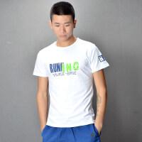 男士短袖T恤2018潮流体��字母印花半袖青少学生冰丝boy夏季