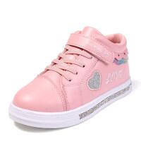 童鞋女童板鞋小白鞋8新款�n版�和�休�e�\�有�秋季�W生中��涡�