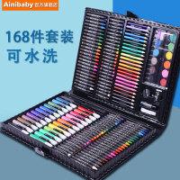 安妮贝比水彩笔可水洗儿童水彩画笔套装小学生彩笔颜色笔幼儿园彩色笔美术宝宝画画笔学生蜡笔24绘画套装工具