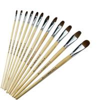 20180522042412907狼毫圆头软毛画笔梵高鸭舌水粉笔单支水彩油画笔套装