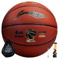 李宁 LI-NING 室内外防水吸湿PU篮球龙焱CBA比赛7号蓝球lanqiu LBQK827-1