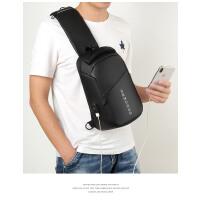 新款胸包男士大容量韩版斜挎背包出差旅行多功能时尚休闲单肩包