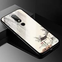 诺基亚x6手机壳Nokia 6.1 Plus保护套诺基亚x6 2018版玻璃壳TA-1099卡通个性 诺基亚X6 20
