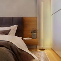 【限时7折】极简创意落地灯线条地灯个性氛围客厅卧室灯网红led床头立式台灯