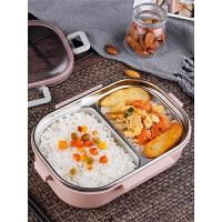 快餐盒带盖韩国分格 304不锈钢女小学生饭盒儿童便当盒带盖