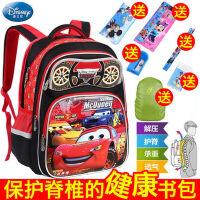 迪士尼小学生书包男1-3-5年级卡通汽车儿童书包6-12周岁男孩背包4