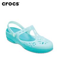 Crocs女凉鞋 卡骆驰夏季伊莎贝拉女士坡跟厚底休闲鞋|204939