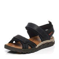 Belle/百丽夏季专柜同款牛皮/弹力布厚底休闲男凉鞋4VP01BL7