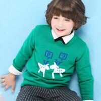 【2件3折到手价:54.6】小猪班纳童装儿童秋冬装针织衫2018新款大童男童毛衫女童套头毛衣
