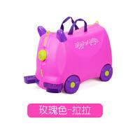 英国贝拉奇儿童旅行箱宝宝行李箱可骑可坐拖拉小孩拉杆箱玩具登机SN7231 18寸