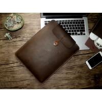 新苹果电脑包macbook pro内胆包13英寸笔记本包15寸真皮保护套男