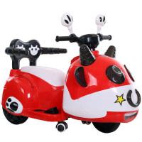 好加儿童电动车三轮车宝宝小孩可坐玩具车摩托车室内童车选配摇摆 红色 音乐+早教