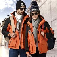 户外冲锋衣男三合一两件套防寒防水登山外套滑雪服女冬季
