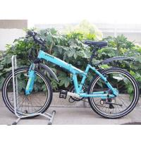 时尚小型自行车单车24寸铝合金折叠自行车前避震21变速指拨