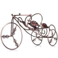 津熙优品jxsuperior 古铜色欧式三轮车造型红酒架JX01193