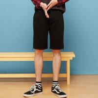【1件2.5折到手价:37.3】美特斯邦威休闲短裤男士运动韩版潮流夏装新款裤子个性印花