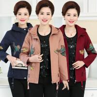 妈妈装春秋款夹克外套中年妇女大码上衣中老年女装风衣女40-50岁