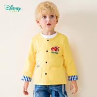 迪士尼Disney童装 男童纯棉外套2019春季新品前开上衣儿童汽车印花萌趣衣服191S1111