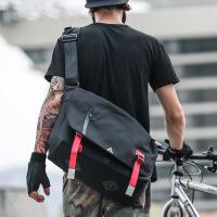 学生户外运动背包帆布单肩包男士斜挎包邮差包死飞包街头潮流书包