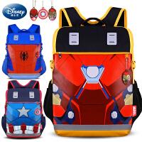 迪士尼小学生书包儿童男孩1-3一4-6三年级男童减负学生包美国队长